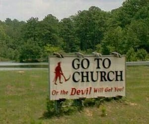 church and Devil image
