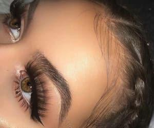 eyebrows, eyes, and long image