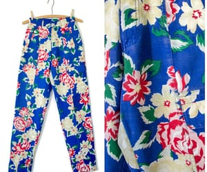 1990's, fashion, and flower pattern image