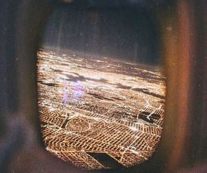 city, lights, and plane image