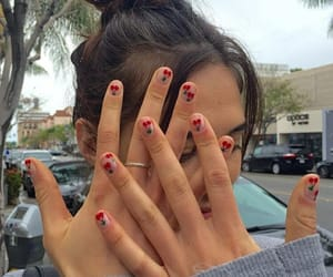 nails, cherry, and girl image