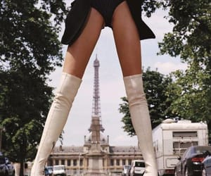 paris, boots, and fashion image