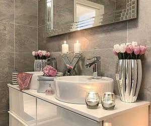 bathroom, decor, and fashion image
