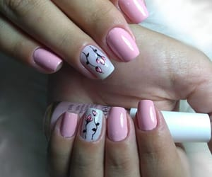 design, flowers, and nails image