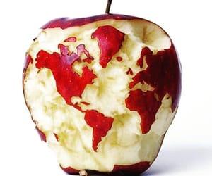 apple and world image