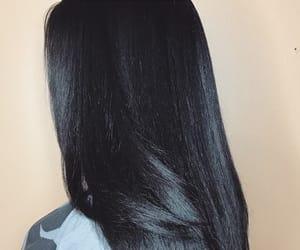 blackhair, hair, and haircut image