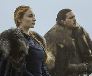 game of thrones, jon snow, and sansa stark image