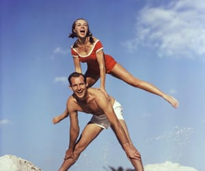 60s, beach, and couple image