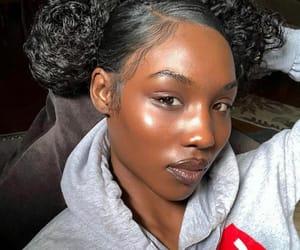 baddie, melanin, and skin image