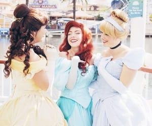ariel, belle, and cinderella image