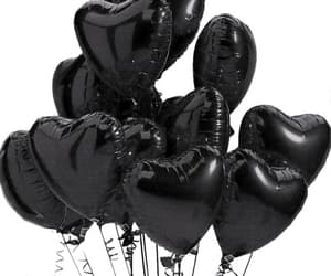 aesthetic, balloon, and black image