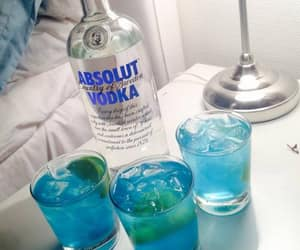 vodka, absolut, and blue image