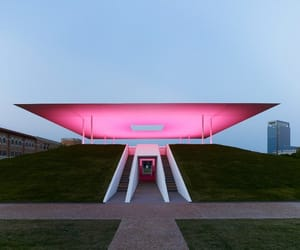 architeture, light, and pink image