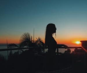view, beach, and malibu image