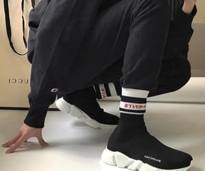 Balenciaga, fire, and trainers image
