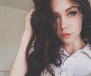 beautiful girl, beauty mark, and cute girl image