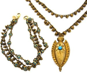 etsy, turquoise necklace, and vintage jewelry image