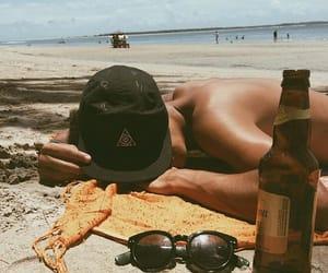 beach, Sunny, and guy image