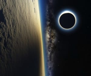 earth, luna, and space image