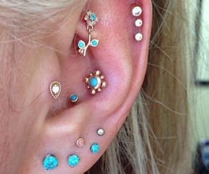 accessories, piercing, and style image