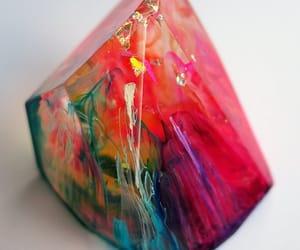 home decor, rainbow crystal, and crystal gem image