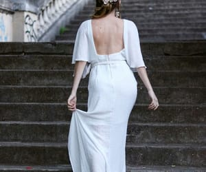 actress, bride, and stairs image