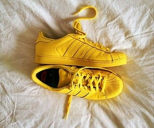 yellow, adidas, and shoes image