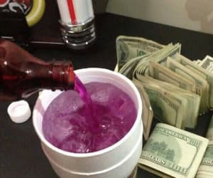 money, drink, and lean image