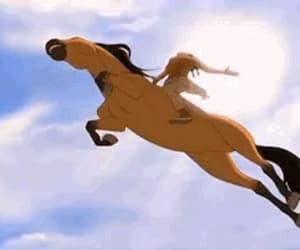 badass, gif, and horse image