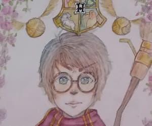 drawing, hogwarts, and slytherin image