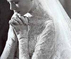 grace kelly, wedding, and dress image