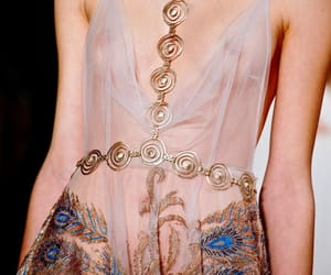chic, gold, and haute couture image