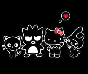 badtz maru, chococat, and hello kitty image