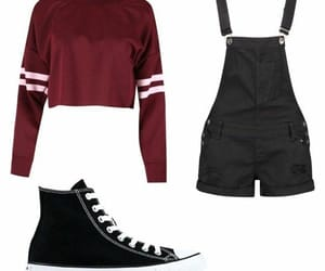 converse, outifits, and overoles image