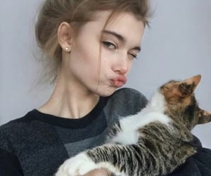 aesthetic, cat, and girl icon image