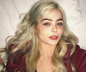 blonde, eyes, and flash image