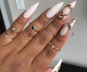 nails, model, and cute image