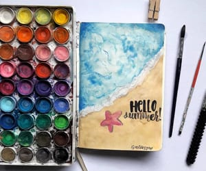 art, journaling, and watercolor image