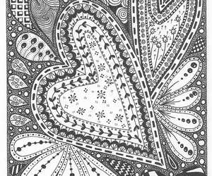 black and white, hand-drawn, and tangle image