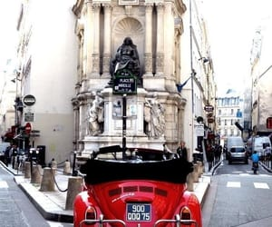 car, red, and france image