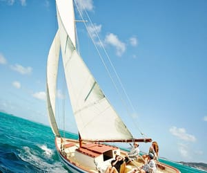 beauty, sail, and blue image