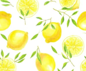 illustration, lemon, and pattern image
