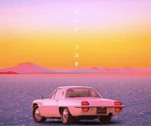 aesthetic, car, and salt flats image