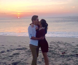 beach, couple, and happy new year image