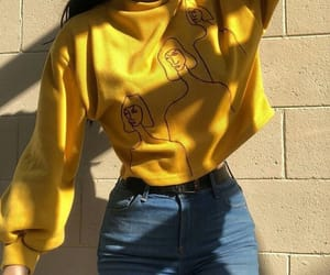 yellow, style, and aesthetic image