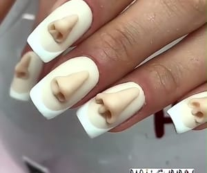 funny, nail, and nail art image