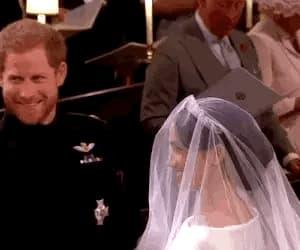 gif, harry and meghan, and royal wedding image