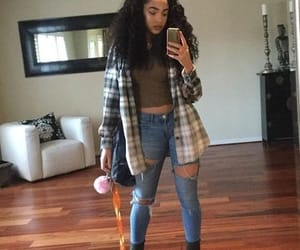 flannel, tomboy, and lightskin image