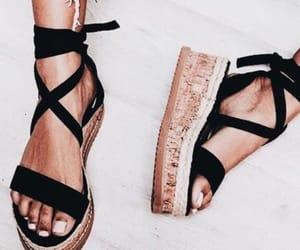 black, footwear, and heels image