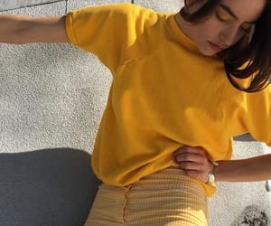 fashion, photography, and yellow image